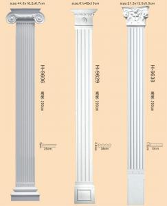 Polyurethane Decorative Roman Columns Porch Pillars For Wedding ...