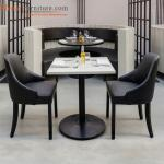 Restaurant Dining Room Furniture Sets With Wood Frame Leather Seat Upholstery