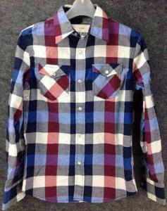 China men Cheap plaid blouse stocklots full sleeve tops stock,man clothes inventory wholesaler on sale