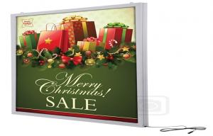 China Magnetic Double Sided 3528 Smd LED Light Boxes , Crystal Led Advertisement Display on sale