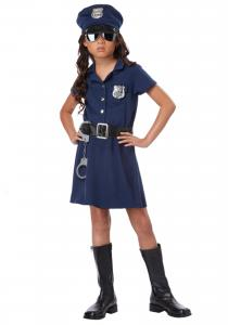 China Uniform Kids Halloween Costumes , Police Officer  Teen Girl Costumes on sale