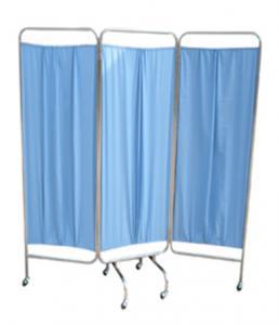 China Écran se pliant fois de salle de lit de meubles d'hôpital d'écran de salle de l'acier inoxydable 3 on sale