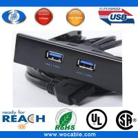 China Superspeed USB 3.0 20 Pin 2 Ports Front Panel Floppy Disk Bay Hub Bracket Cable on sale