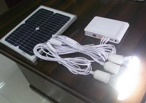China Outdoor Solar Panel Light Kit Solar Home Lighting Kit 325×225×18 Mm on sale