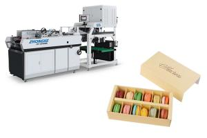 China Multi Function Sweet Box Making Machine Automatic Glue Spraying System on sale