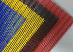 PVC Colored Powder Coating Decorative Wire Mesh , 3D Wall Architectural Woven Mesh