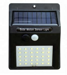 China 3.7v ABS 30 Leds Solar Powered Outdoor Lights With Motion Detector For Backyard on sale
