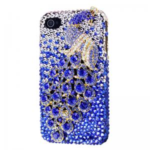 China 3D Stereoscopic Phoenix Crystal Diamond Bling Handmade Case for iPhone 4/4S,zk008 on sale