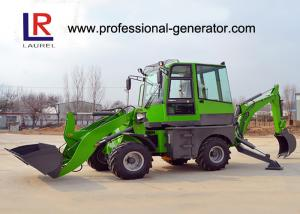 Quality Green Heavy Construction Machinery , 1600kg Load Mini Backhoe Wheel Loader for sale