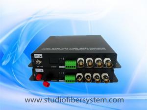 China 4CH AHD video audio fiber converter with black aluminum case on sale