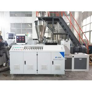 China PVC Pipe Profile / Granules Plastic Extruder Machine Conical Twin Screw Extruder Equipment on sale
