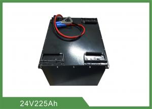 China Customized Industrial Electric Forklift Battery 24V 225Ah Lifepo4 With Metal Casing on sale