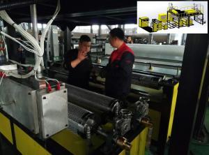 China HDPE LDPE LLDPE 5 Layers Bubble Wrap Making Machine 38CRMOLA Screw Material , Polyethylene Bubble Film on sale