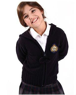 d7ebaabd4 Black 100 Cotton school uniform sweater cardigans for Girls / boys ...