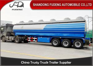 China Carbon Steel 15000 Gallon 50m³ Fuel Tanker Semi Trailer 12 Wheeler Plam Oil Transport on sale