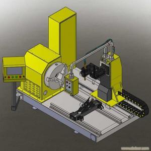 China CNC pipe plasma cutting machine 100-1000mm OD on sale