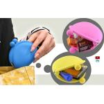 China OEM M Blue / Yellow / Pink Silicone Coin Pouch / Purse / Bag / Wallet For Women wholesale