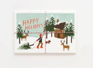 China Offset Printing Cardstock Christmas Cards Stock With Gloss Lamination Surface on sale