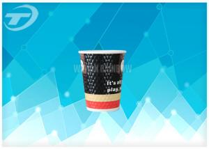 China Diamond Disposable Paper Cups with lids Anti Slip Design , Double Wall For Hot Drink on sale