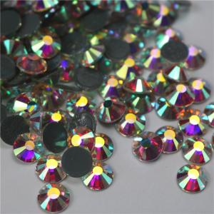 China Factory wholesale hot drilling ab strass crystals 3mm 4mm glass rhinestones bulk on sale