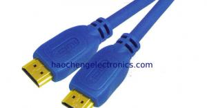 China 10.5Gbps 3D TV HDMI Cable 1.4v 28 AWG With Nylon Sleeve on sale