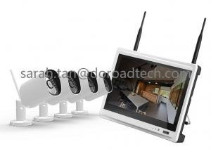 China NVR with LCD Screen 4CH 720P Bullet WIFI IP Cameras Support P2P Wireless Surveillance System on sale