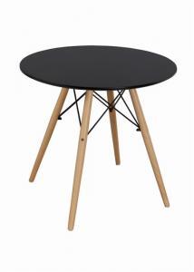 China Smooth MDF Top High Round Folding Modern Bar Table Set Strong Bench Wood Eiffel Shape Leg on sale