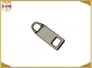 China Zinc Alloy Nickel Plating Metal Zipper Pulls For Jackets / Dresses 3mm Thickness supplier