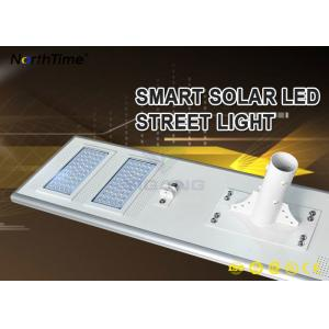 China 11000LM Energy Saving Solar Panel LED Street Lights With CE,ROHS,IP65 Certificates on sale