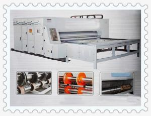 China high speed semi-automatic chain feeding flexo printer slotter die cutter stacker machine on sale