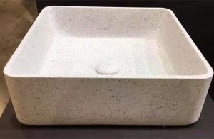 China Custom Bathroom terrazzo stone sink basin various colors inorganic basin on sale