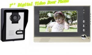 China デジタル7はLCDのカラー ビデオのドアの電話ドアベル極めて薄いカラー ビデオのドアの電話をワイヤーで縛りました on sale