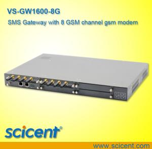 China sms gateway with 8 GSM channel gsm modem on sale