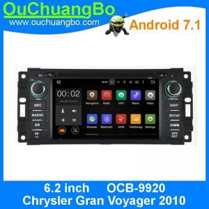 China Ouchuangbo car gps multi media android  7.1 for Chrysler Gran Voyager del 2010 with 1024*600 Bluetooth Phone 4*45 on sale