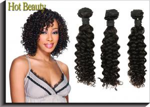 China Deep Wave 5A Virgin Malaysian Curly Hair Weave , Long Hair Extensions on sale