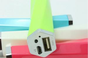 China Universal  Mini  Power Bank Usb Charger For Mobile Phone  With LED Light on sale