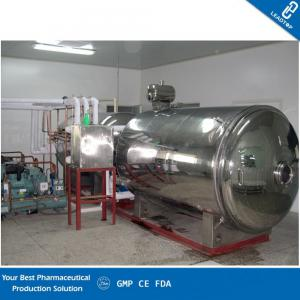 China Chemical Industrial Vacuum Freeze Dryer , Freeze Dried Food Machine GMP Standard on sale