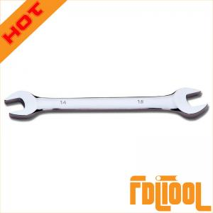 China Mirror Polished Double Open End Wrench on sale