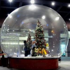 China Snow Globe / Crystal Ball Inflatable Bubble Tent For Christmas Activities on sale