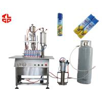 Automatic 3 In 1 Liquid Filling / Sealing And Gas Filling Machine For Aerosol Products