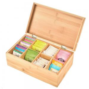 China total bamboo material box tea custom tea box for high quality and factory price on sale