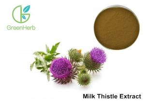 China Milk Thistle Natural Plant Extracts 80% Silymarin For Liver Protecting on sale