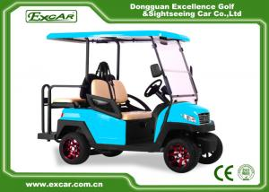China EXCAR blue 2 Seater electric golf car 48V AC motor golf buggy for sale on sale