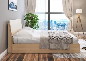 Elegant Hotel Style Furniture Bed Melamine Laminated Board With PVC