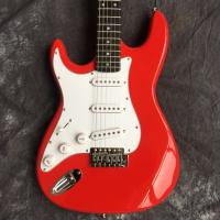 China ST back metal red electric guitar, can be modified according to customization requirements on sale