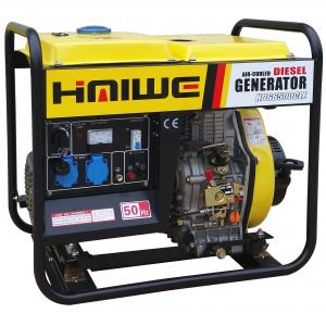 China Haiwe Power 5KW air cooled diesel generator, open frame, portable generator, super performance, good for home use ! on sale