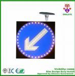 Solar LED Flashing Traffic Signal Sign Portable Traffic Light