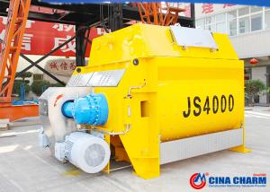 China Twin Shaft Concrete Mixer Machine Js4000 Model 4000l Discharge Volume on sale