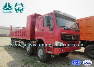 China 8 × 4 High Tension Hydraulic Cylinder Mining Dump Truck , Coal Mining Trucks on sale