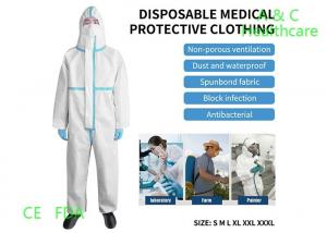China Anti Virus Disposable Protective Coverall Suit Non Woven ICU Usage on sale
